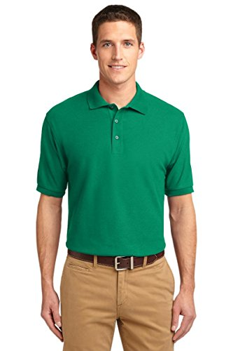 Port Authority Men's Tall Silk Touch Polo 3XLT Kelly (Big And Tall Silk Shirts)