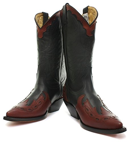 Grinders Boot on Arizona Burgundy Crafted Cowboy Slip Real Western Womens Fashion Leather Hand New Black Boots Hi Shoes Stylish Pointed rvq5rgw8