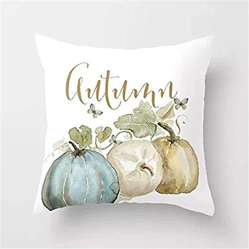 Neu Aquarell Kürbis Kissenbezüge Sofa Dekoration Kissen Cute Cartoon Halloween(Random delivery)