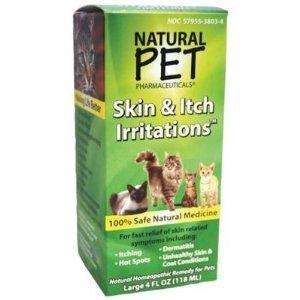 Peau Natural Pet + Irritation Démangeaison pour Chats 4 onces