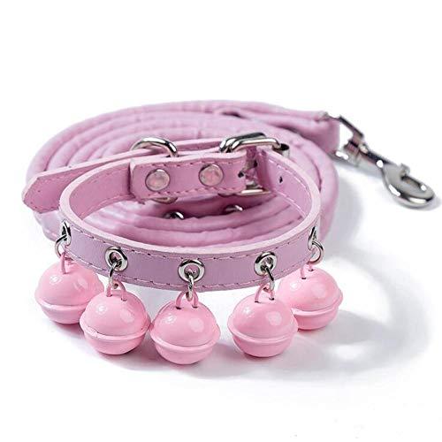 QXPuSS Cuerda de tracción de Collar de Campana para Perro Mascota ...