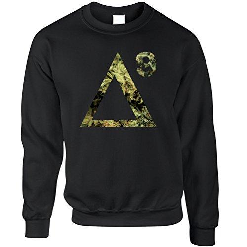 Delta 9 THC Sweatshirt Cannabis Molecule Black XL