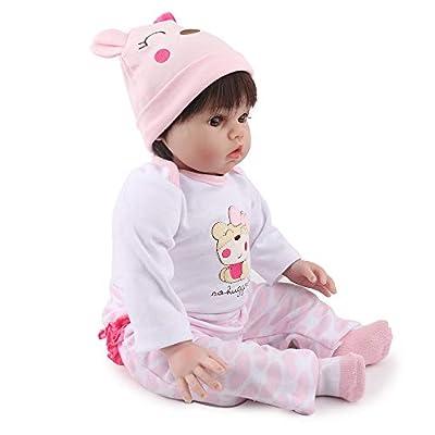 Kaydora Reborn Baby Doll Girl, 22 inch Soft Weighted Body, Cute Lifelike Handmade Silicone Doll: Toys & Games