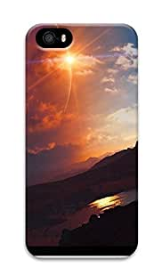 iPhone 5 5S Case A Sunset Natural Scenery 3D Custom iPhone 5 5S Case Cover