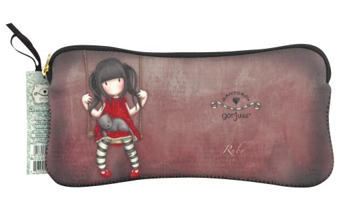 Santoro Gorjuss Neoprene Zippered Pencil/Cosmetic Case, Ruby (GJ27101) by Santoro