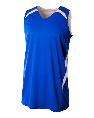A4 Sportswear Royal/White Youth XS  Reversible Basketball Un