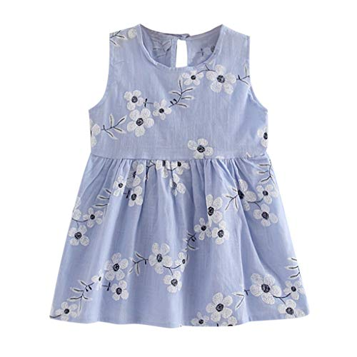 (Todaies, Baby Girl Clothes Lemon Printed Infant Outfit Sleeveless Princess Gallus Dress 2018 (6-12M,)