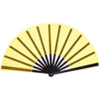 Chinese Nylon-Cloth Fan for Ladies, Yellow