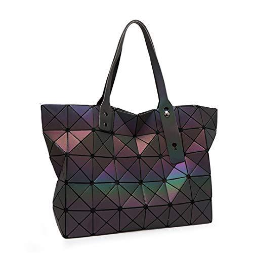 Black Geometry Diamond Borse Borsa Donna Tote Sac Con Da Tracolla Luminous Bolso Valigetta A Mano 5PSOwS4q