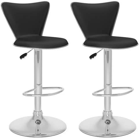 CorLiving Tall Curved Back Adjustable Bar Stool, 47.75 , Set of 2, Multiple Colors