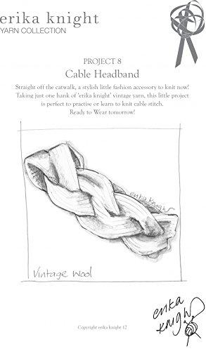 Erika Knight Vintage Wool Knitting Pattern Cable Headband Aran