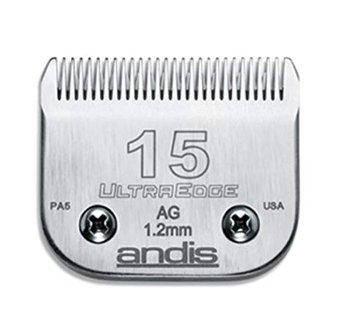 Andis Carbon-Infused Steel UltraEdge Dog Clipper Blade, Size-15, 3/64-Inch Cut Length (64072) ()