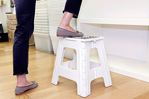 Outstanding Kikkerland Rhino Tall Folding Step Stool White Unemploymentrelief Wooden Chair Designs For Living Room Unemploymentrelieforg