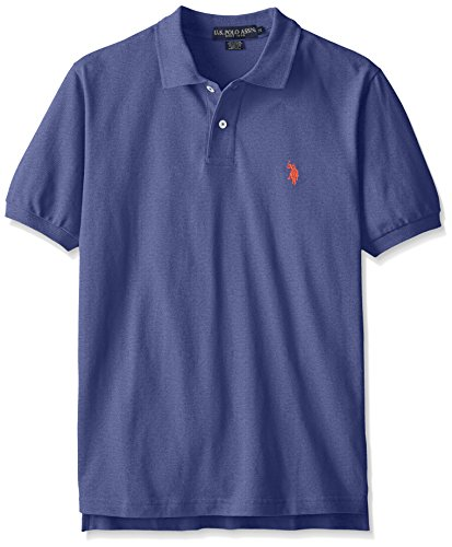 U.S. Polo Assn. Men's Classic Polo Shirt, Dodger Blue Heather, M