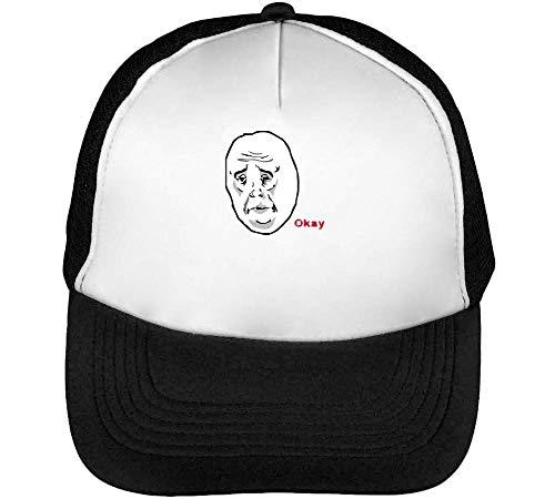 Meme Negro Okay Hombre Beisbol Blanco Gorras Snapback KwHqzxdq8F