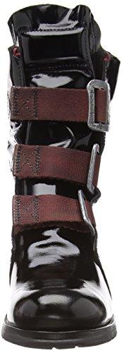 026 Stif Femme Rangers London Boots Noir Black Fly axn1TFfH