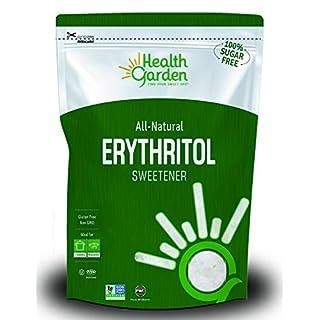 Health Garden Erythritol Sugar Free Sweetener - All Natural - Non GMO - Kosher- Keto Friendly (3 LB)