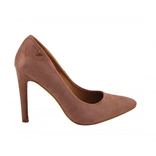 Benavente - Zapato de salón tacón alto ante rosa - Benavente Rosa