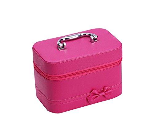 Candy Color Hecho A Mano Cosméticos Bolsa De Moda Bowknot Caja De Almacenamiento Cuadrado Caja De Almacenamiento Cuadrado RoseRed