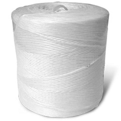 CWC Spiral Wrap Polypropylene Tying Twine - 135 lbs Tensile, White (Pack of 4 rolls)