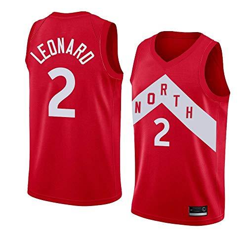 Colrlel Men's Toronto_Raptors_#2_Kawhi_Leonard_Playoffs Award Edition_Earned Edition-Red/White