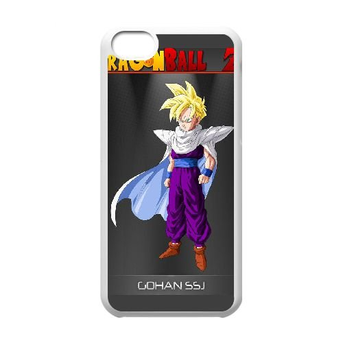 P5Y71 Dragon Ball Z Gohan cas de téléphone cellulaire 5c G5J2YW coque iPhone couverture de coque DH6YWH7QS blancs