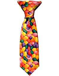 Baby Boys' Jellybean Print Easter 8 inch Clip-On Neck Tie