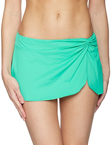 Jade Femme In De Bas Bottom Live Swim Skirt Knot Sarong Color Bikini Anne Cole Front U6npaa