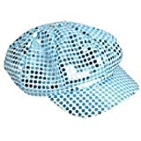 Sequin Newsboy Hat Diva Hat Select Color: blue
