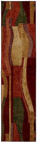 Mohawk Home New Wave Picasso Printed Rug, 2'x8', Wine (Carpet Printed)