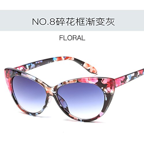 Ojo moda gafas Retro Gato sexy de sol ZHANGYUSEN femenina mujer C4 Tonos de de de gafas Vintage C8 Gafas UV400 wtR5WnBq6