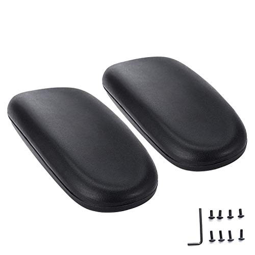 (AAGUT Office Chair Armrest Replacement Chair Arm Pads Black 2 Pack (OeArmPad))