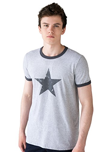 Star Ringer T Shirt - Minimalist Abstract Geometric Retro Graphic Design Printed Tee Top T-Shirt (Star Ringer T-shirt)
