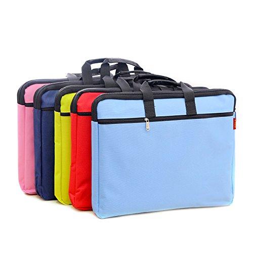 (A4 Canvas File Document Bag Organizer Case Handle Messenger Briefcase Bags Zipper For Men Women Black)