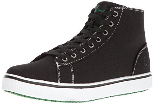 Emeril Lagasse Men's Read Canvas Slip-Resistant Shoe, Black/White, 11.5 D US