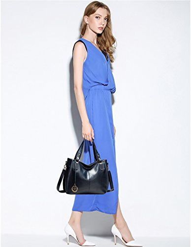 Sac Bleu Sac Cuir Mode bandoulière Sac à Sac à Femme Tisdaini Grand Sac Main à Besace PU RZaYvqw
