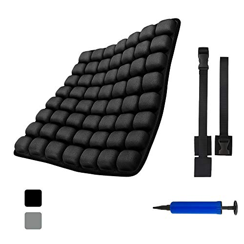 INNERNEED Back Support Cushion Air Inflatable Backrest Pad for Office Chair, Car Seat, Wheelchair, and Daily Use, Back Pain Pressure Relief, 18