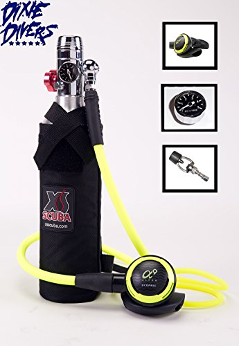 DXDIVER Bailout Pony Bottle Diving Kit with Hose 6 cf (Cf Pony Bottle)