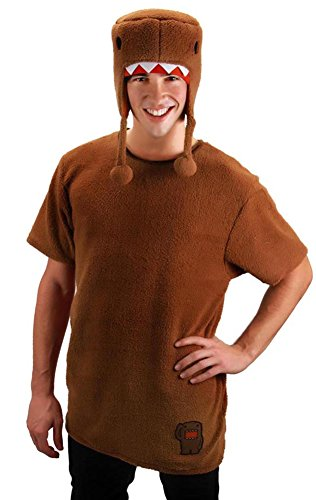 Domo Halloween Costumes (elope Domo Shirt With Hat Costume, Brown, Small/Medium)