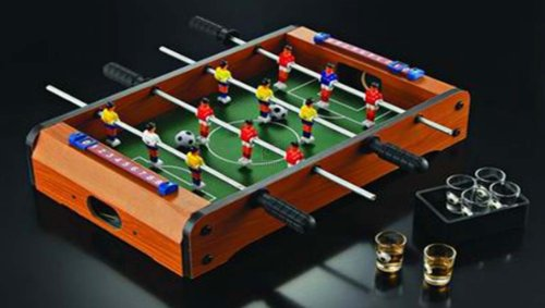 Game Night Tabletop Foosball Shot Glass Set by Game Night