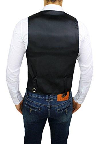 Panciotto Gilet uomo FB CLASS Sartoriale nero gessato a righe smanicato elegante cerimonia casual