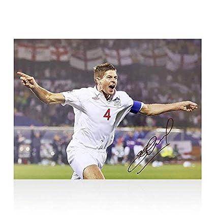 171c4defd6487 Autographed Steven Gerrard Photo - Liverpool England - Autographed ...