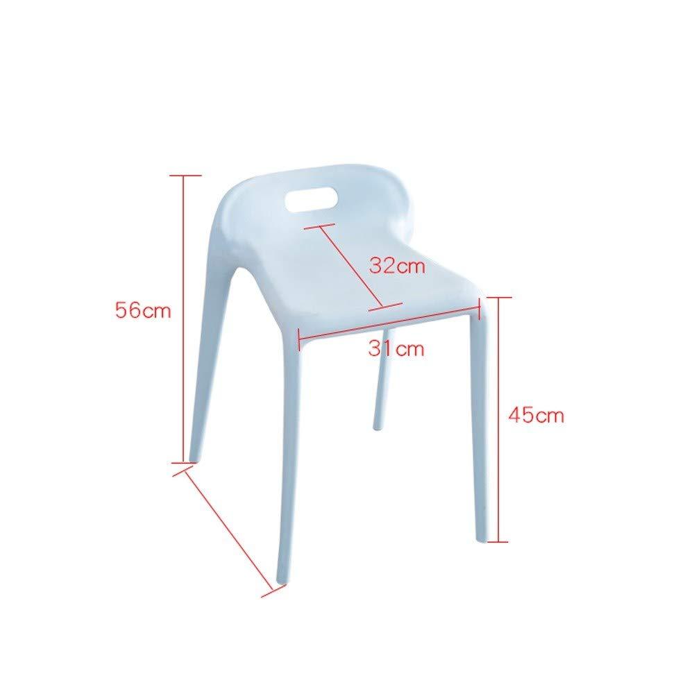 JL Hushåll mode plastpall kreativ stol enkel modern matbord hög pall förtjockad vuxen stol restaurang matstol (två delar) (färg: A) b