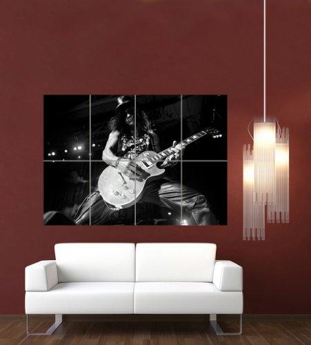 Slash Guns And Roses Rock Music Giant Art Print Poster Picture Black White