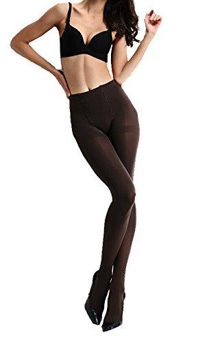 Anderlay 2 Pack Damen weiche Slim Leggings Futter Stretch Hüfthose (EU/36-48) (EU/36-40, 2 Braun)