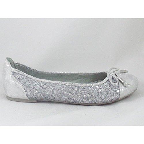 Marco Tozzi - Zapatos de cordones para mujer plateado plata