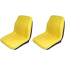 Two (2) New John Deere Yellow Gator Seats 18 4x4 4x2 4x6 Turf Utility Seat YLW