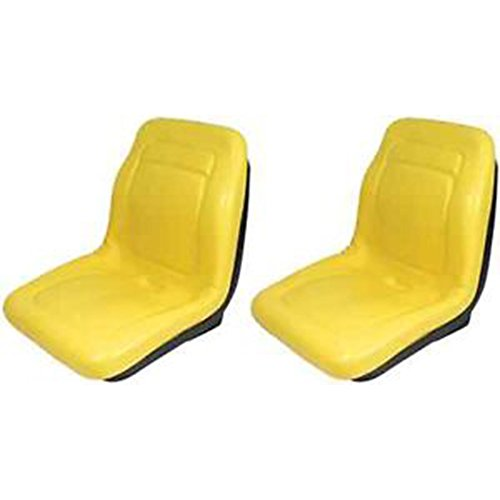 "Two (2) New John Deere Yellow Gator Seats 18"" 4x4 4x2 4x6 Turf Utility Seat YLW"