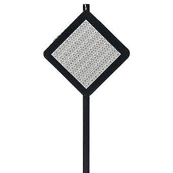 48H Steel Driveway Marker Black 12 PK