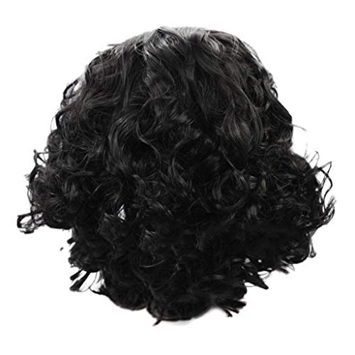 Ydida Fluffy Realistic Short Curly Hair Synthetic Short Fluffy Black Hair Wig Natural Hair Wigs Women's Fluffy Dyed Gold Color Short Hair Gold Wig Short Wigs Black Bob Hair Wigs (Cooking With A Brazilian Twist)